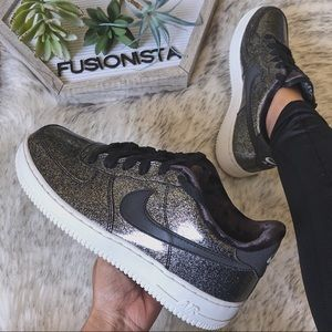 NWT🍭 Luxe Nike Air Force 1 LV8 Black 7Y/8.5W